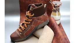 Vegetabil gegerbtes Leder für Schuhe, bedruckt