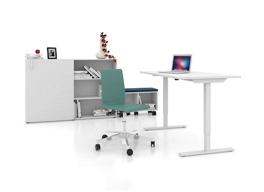 Elektrisch höhenverstellbarer Schreibtisch - Steh-Sitztisch - ergo 1