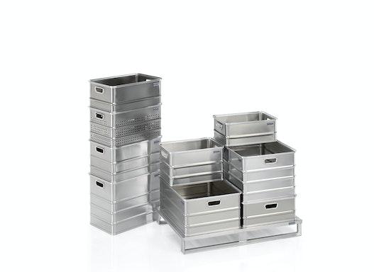 Gmöhling Transportkästen G®-Crate A 152 aus Aluminium - gelocht / ungelocht