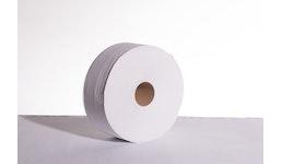 Toilettenpapier Jumborolle 2-lagig weiß, 280 Meter