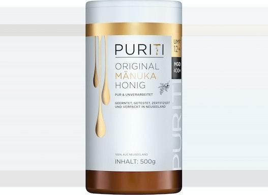 PURITI Manuka Honig MGO 400+ 500g aus Neuseeland - zertifiziert, laborgeprüft, reines Naturprodukt, ohne Zusatzstoffe
