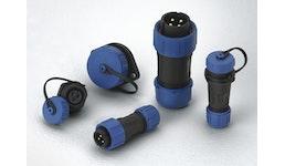 IP68-Rundsteckverbinder im Kunststoffgehäuse mit Schraubverriegelung
