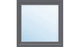 Kunststofffenster 1-flg. ARON Basic weiß/anthrazit 950x1000 mm DIN Rechts