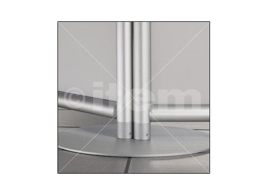 Stellwand-Fußplatte D400 z, weißaluminium ähnlich RAL 9006
