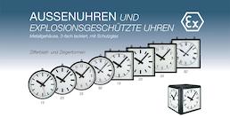 Außenuhren + Explosionsgeschützte Uhren
