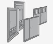 Betonbau-Tür aus Aluminium - Ausführungen und Bauart