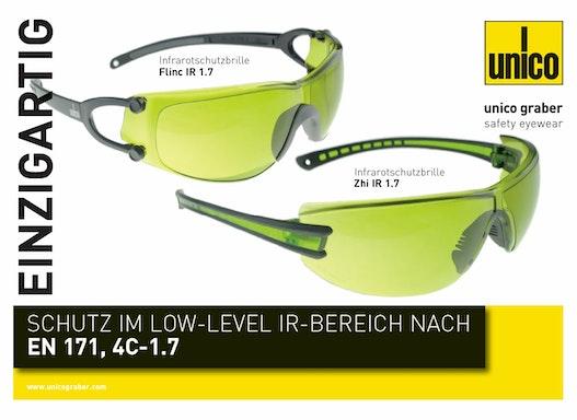 IR 1.7 Infrarot Schutzbrille nach EN 171.4C-1.7
