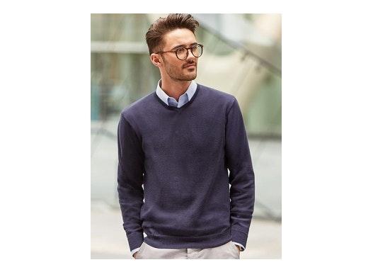 V-Neck Knitted Jumper LS_Z710_0