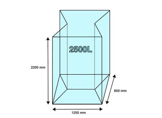 Seitenfaltensack 1250+850x2200mm Styropor 22µ (50 Stück/ Karton)