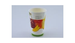 Trinkbecher aus Pappe/Pappbecher/Einwegbecher/Papierbecher mit Früchtemotiv