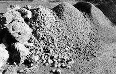 Kalkstein, Kies, Schotter