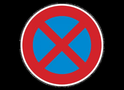 Flach-Verkehrszeichen Halteverbot