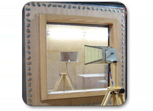 Cuprotect®-Abschirmfenster mit P7B-Scheibe