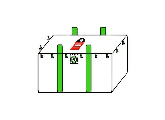 Plattenbag 120x70x110cm,SWL 1250kg,SF:5:1