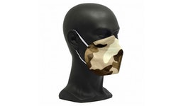 FFP2 Maske Camouflage Braun