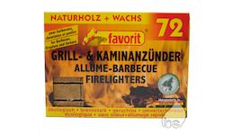 Grill- & Kaminanzünder Favorit Naturholz + Wachs 72er