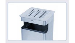 Kombi-Abfallbehälter / Ascher SK 38 aus Edelstahl