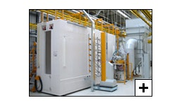 Brandschutz für elektrostatische Pulverbeschichtungsanlagen (EPS)