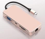 USB C Hub in Rosé