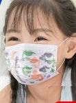 Kinder Mundschutz / Kindermaske 3 lagig mit Dino Motiv