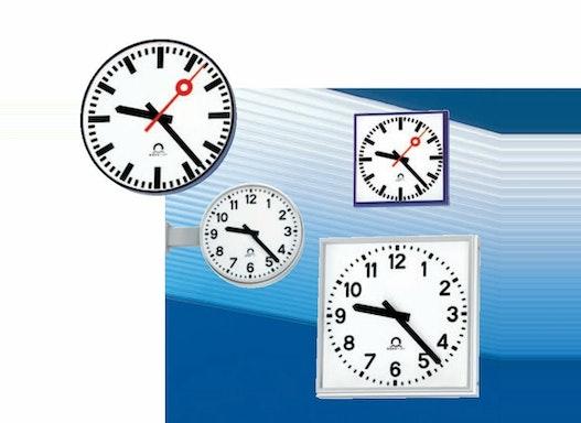Außenuhren PROFILINE, runde und quadratische Großuhr/Hallenuhr