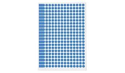 Farbige Markierungspunkte auf DIN A5 Bogen 15 mm