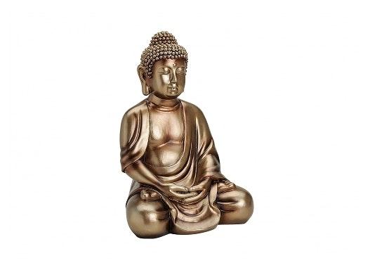 BUDDHA POLY GOLD 25X21X36CM