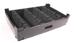 Hohlkammer Systeme, Ladungsträger, bedruckte Hohlkammerplatten, Hohlkammerplatten mit Schaumstoff
