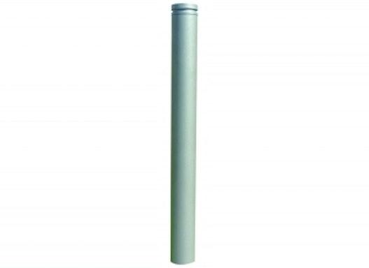 Stilpoller Ø 82 mm, mit Alukopf mit Ziernut, ortsfest