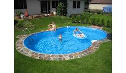 Poolfolie 525 x 320 x 150 cm - 0,6 mm - blau - Achtformbecken
