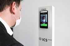 Stationäres Infrarot-Fieberthermometer / kontaktloses Fiebermessen in Unternehmensumgebungen