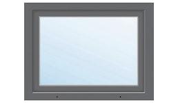 Kunststofffenster 1-flg. ARON Basic weiß/anthrazit 950x750 mm DIN Rechts