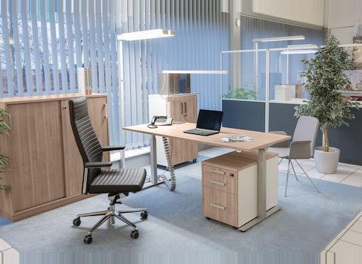 Elektrisch höhenverstellbarer Schreibtisch - Steh-Sitztisch - ergo 2