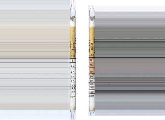 Dräger Prüfröhrchen - Kohlenstoffmonoxid 8/a  8 bis 150 ppm CO in H2 - Dräger-Röhrchen