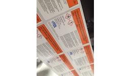 Etiketten für Desinfektionsmittel