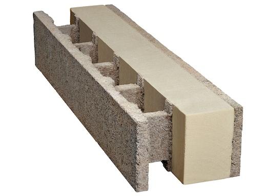 isospan Holzbetonmantelsteine mit integrierter Wärmedämmung