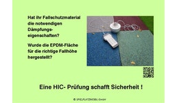 HIC-Prüfung von Fallschutzmaterial