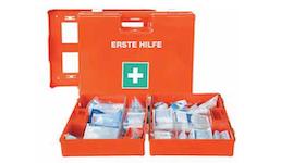 Erste-Hilfe-Verbandskoffer und -schränke