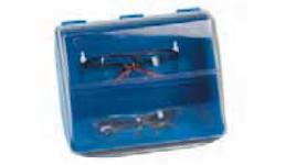 Aufbewahrungsbox VARIO, blaue Rückwand