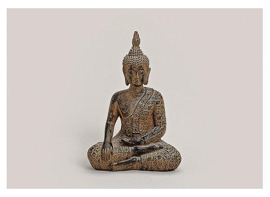 BUDDHA ANTIK BRAUN POLY 9X5X13CM