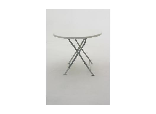 Biergarten Tisch 80 Ø biacno (weiß marmoriert)