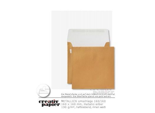 Briefumschläge SO 160 x 160, goldfarben