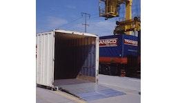 mobile Überfahrbrücke zur Containerbeladung