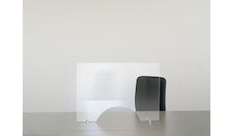 Entspiegelter Hygieneschutz aus Glas / Spuckschutz