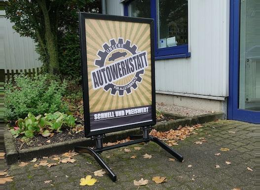 Aufsteller für Plakate   Wasserdicht   Nicht windanfällig