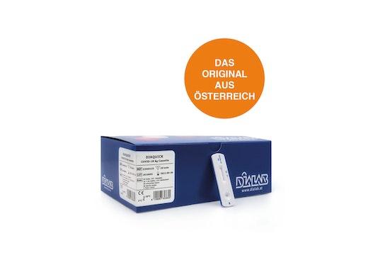 Antigen-Schnelltest DIAQUICK COVID-19 Ag Cassette  /  Corona-Schnelltest - in Österreich zur Eigenanwendung zugelassen