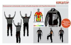 3D-Simulation von virtueller Bekleidung