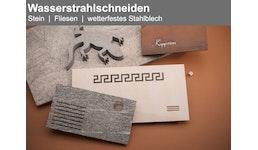 Wasserstrahlschneiden von Stein, Fliesen & wetterfestem Stahl