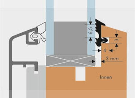 Verglasungsdichtung Holz/Alufenster Spalt: 3mm C-2228 für Innen