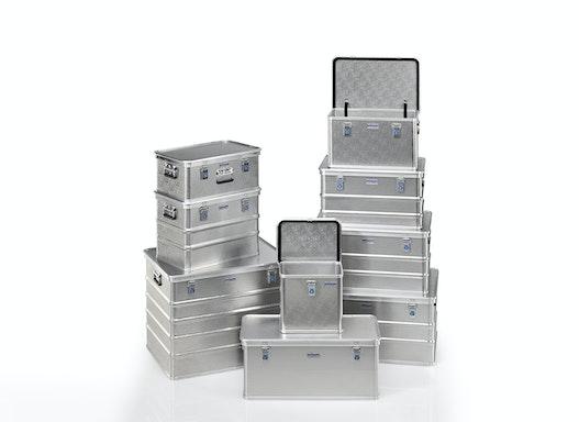 Gmöhling Transportkiste G®-professional BOX A 1599 aus strukturiertem Aluminium